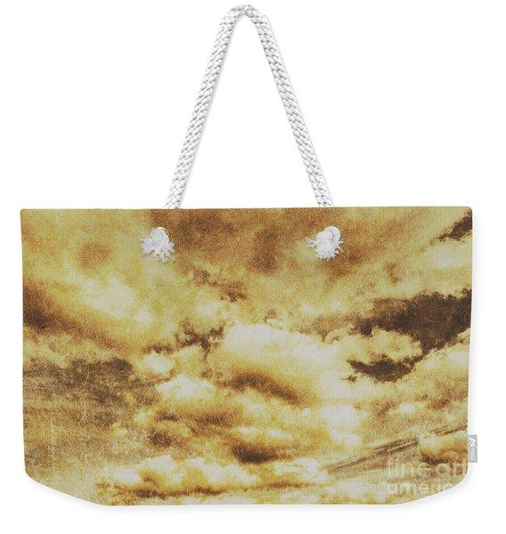 Retro Grunge Cloudy Sky Background Weekender Tote Bag