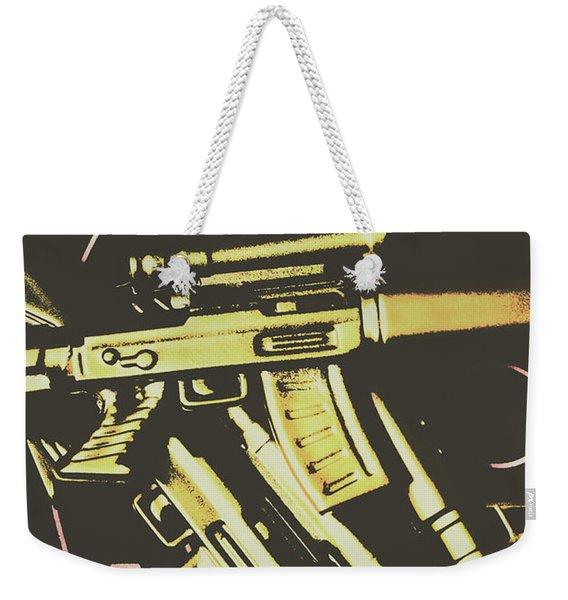Retro Guns And Targets Weekender Tote Bag