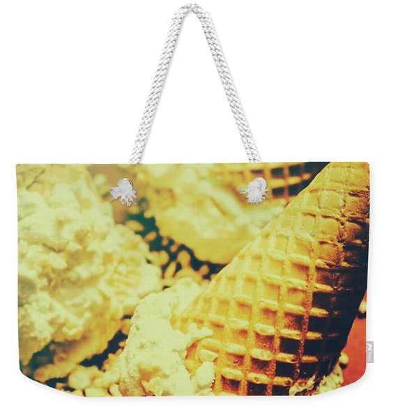 Retro Ice Cream Artwork Weekender Tote Bag