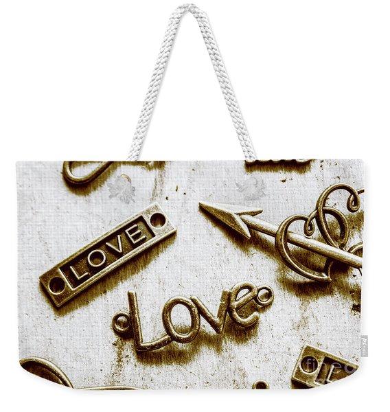 Retro Love Heart Jewels  Weekender Tote Bag