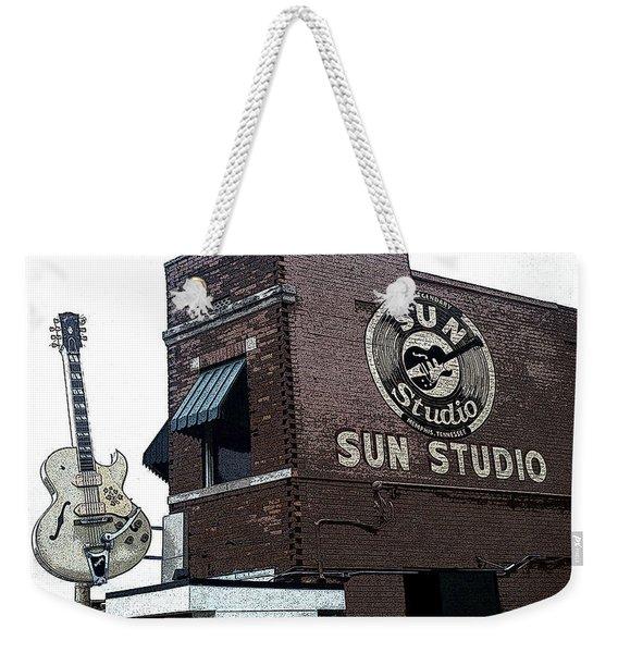 Retro Memphis Street Weekender Tote Bag