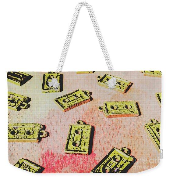 Retro Music Tapes Weekender Tote Bag