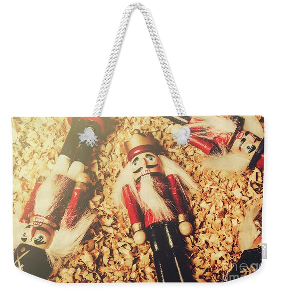 Retro Nutcrackers Weekender Tote Bag