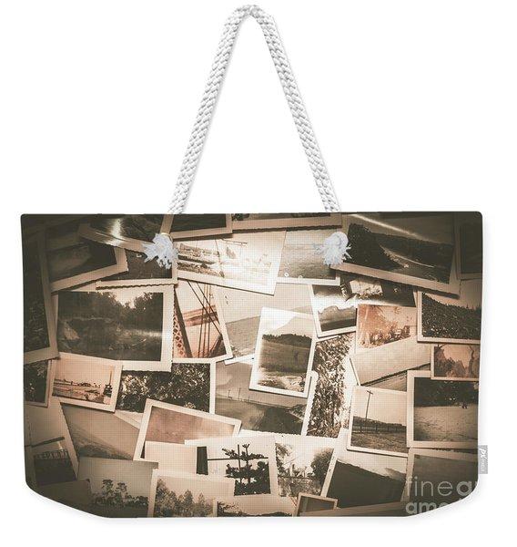 Retro Photo Album Background Weekender Tote Bag