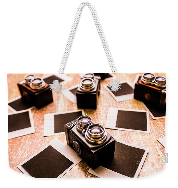 Retro Photographic Scene Weekender Tote Bag