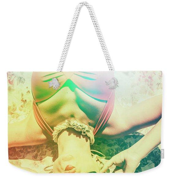 Retro Pin-up Pool Party Weekender Tote Bag