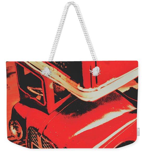 Retro Red Britain Weekender Tote Bag