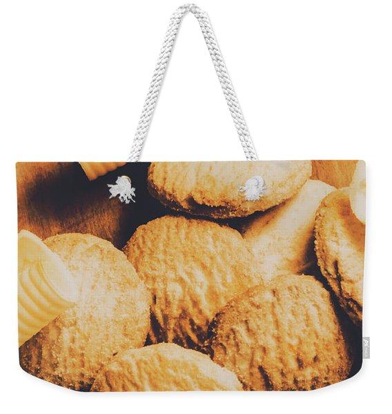 Retro Shortbread Biscuits In Old Kitchen Weekender Tote Bag