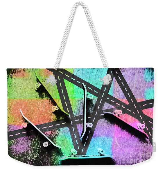 Retro Skaters Parade Weekender Tote Bag