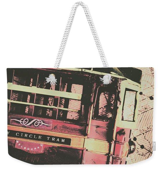 Retro Streets And Urban Trams Weekender Tote Bag