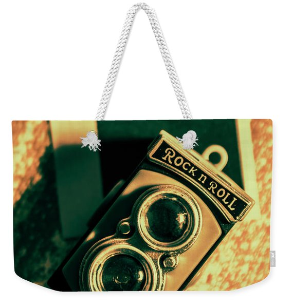Retro Toy Camera On Photo Background Weekender Tote Bag