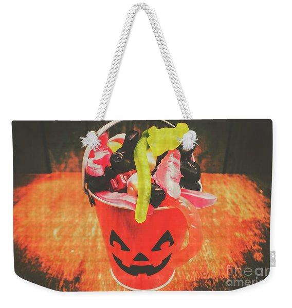 Retro Trick Or Treat Pumpkin Head  Weekender Tote Bag