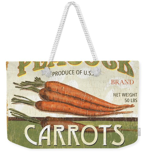 Retro Veggie Label 2 Weekender Tote Bag