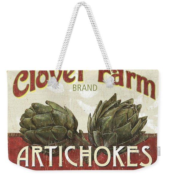 Retro Veggie Labels 1 Weekender Tote Bag