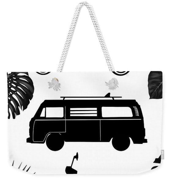 Retro Wheels Weekender Tote Bag