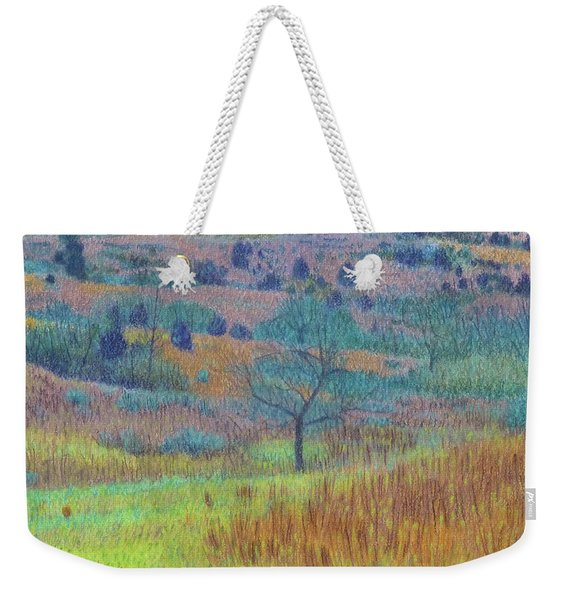 Weekender Tote Bag featuring the painting Return Of Green Dream by Cris Fulton