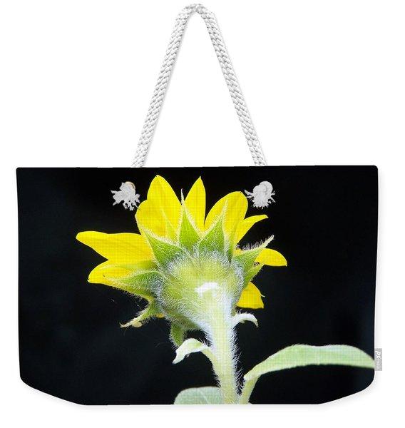Reverse Sunflower Weekender Tote Bag