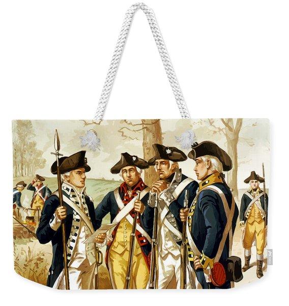 Revolutionary War Infantry Weekender Tote Bag