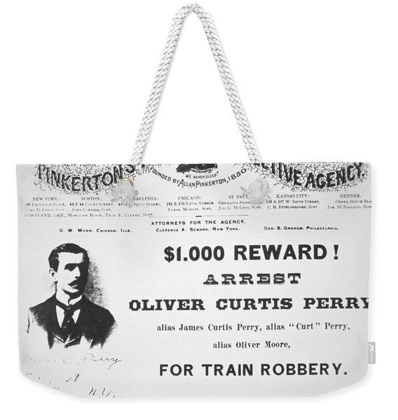 Reward Poster For The Arrest Of Oliver Perry Issued  Weekender Tote Bag