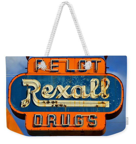 Rexall Drugs Sign 1940s Weekender Tote Bag