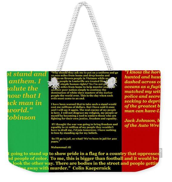 Colin Kaepernick Rbg Weekender Tote Bag