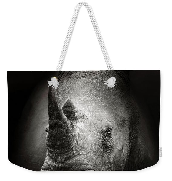 Rhinoceros Portrait Weekender Tote Bag