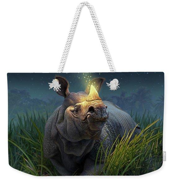 Rhinoceros Unicornis Weekender Tote Bag