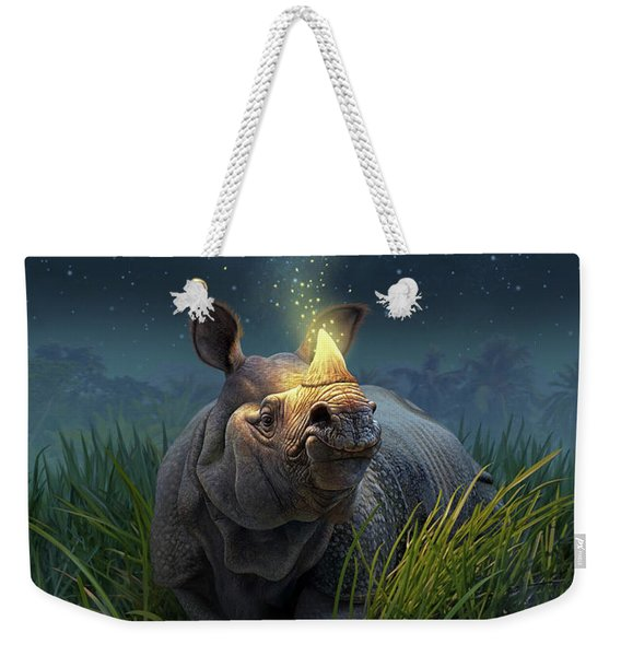 Rhinoceros Unicornis Weekender Tote Bag
