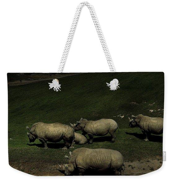 Rhinos Weekender Tote Bag