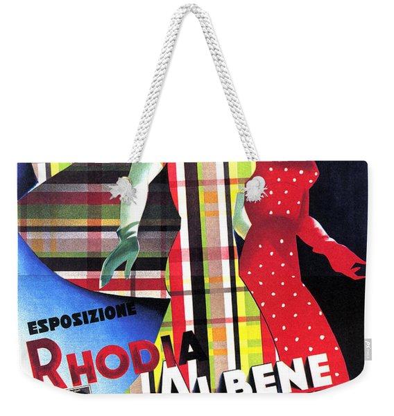 Rhodia Albene Alla Rinascente - Vintage Exposition Posture Weekender Tote Bag