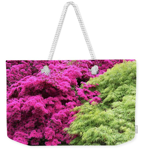 Rhododendron And Acer Weekender Tote Bag