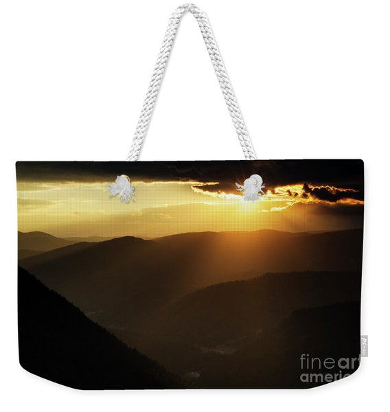 Rhodope Mountains At Sunset Weekender Tote Bag