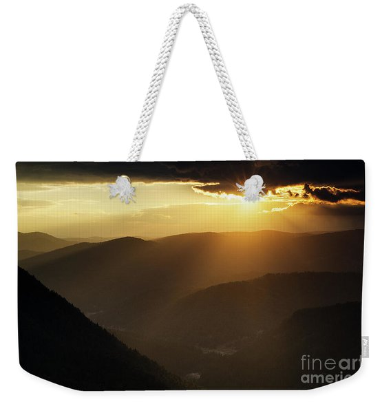 Rhodope Mountains Sunset Weekender Tote Bag