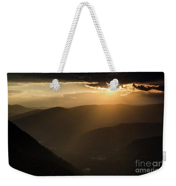 Rhodope Mountains Sunset2 Weekender Tote Bag