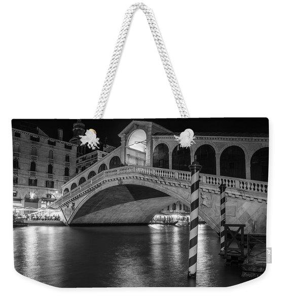 Rialto Bridge Black And White  Weekender Tote Bag