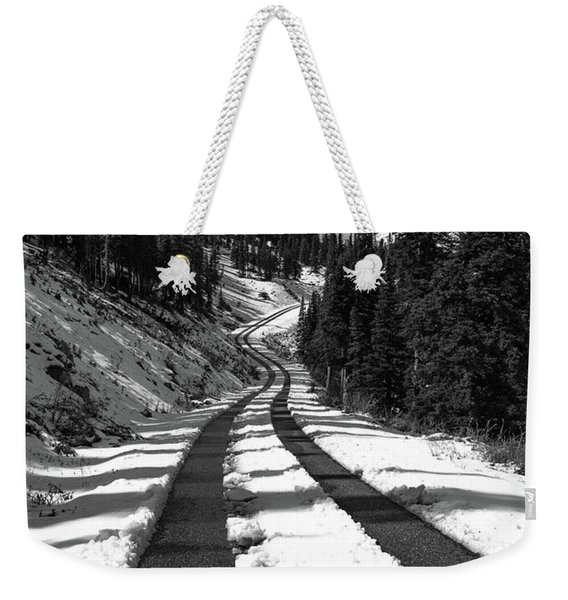 Ribbon To The Unknown Monochrome Art By Kaylyn Franks Weekender Tote Bag