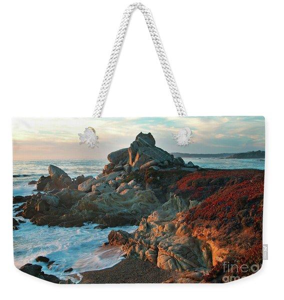 Ribera Beach Sunset Carmel California Weekender Tote Bag