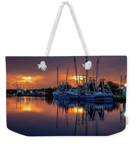Rich And Vibrant Bayou Sunset Weekender Tote Bag