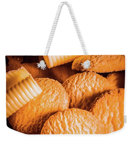 Rich Buttery Shortbread Biscuits Weekender Tote Bag