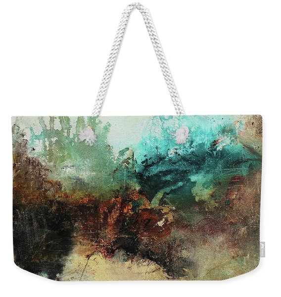 Rich Earth Tones Abstract Not For The Faint Of Heart Weekender Tote Bag