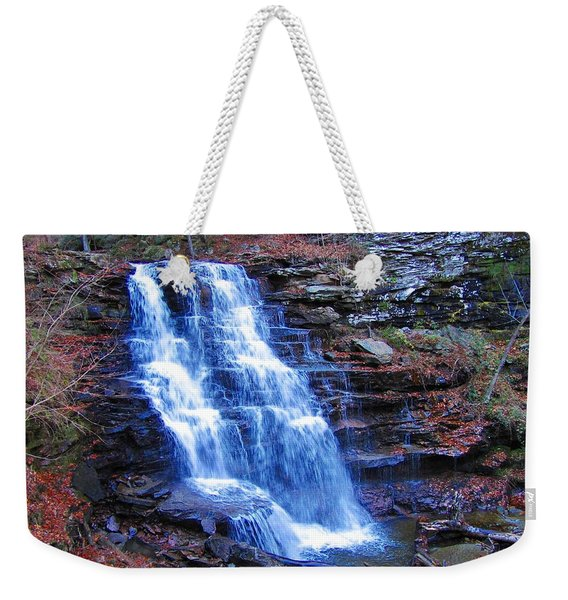 Ricketts Glen Waterfall 3941  Weekender Tote Bag
