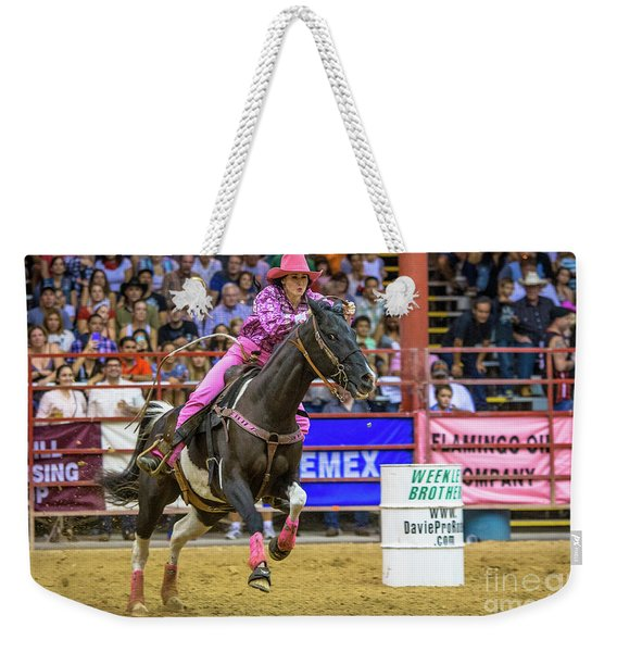 Ride Her Hard Cowgirl Weekender Tote Bag