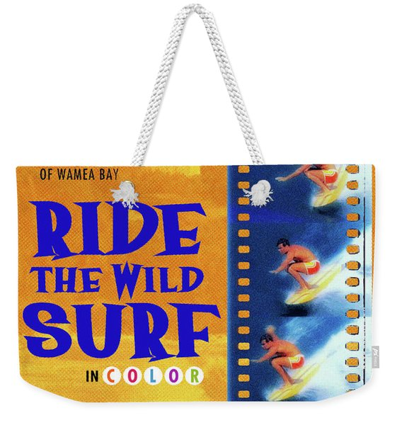 Ride The Wild Surf Vintage Movie Poster Weekender Tote Bag