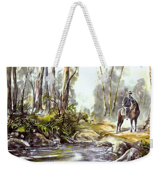 Rider By The Creek Weekender Tote Bag