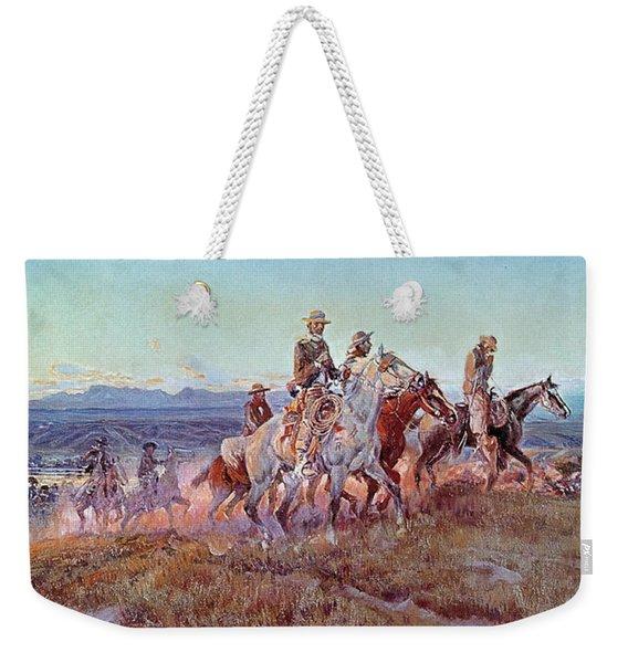 Riders Of The Open Range Weekender Tote Bag