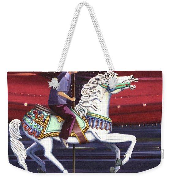 Riding The Carousel Weekender Tote Bag