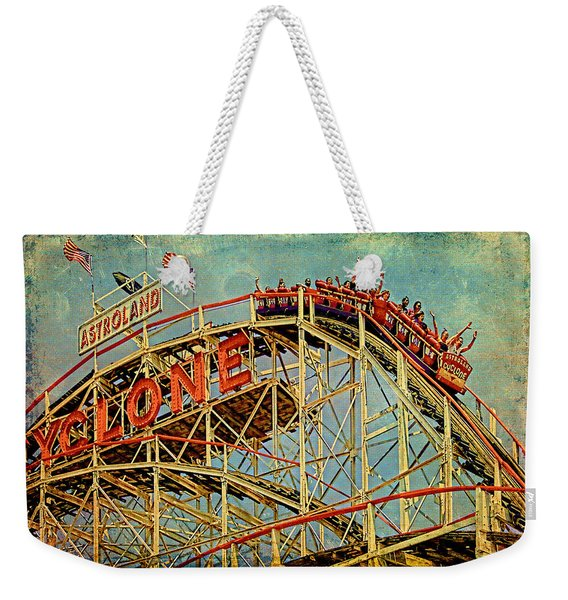 Riding The Cyclone Weekender Tote Bag