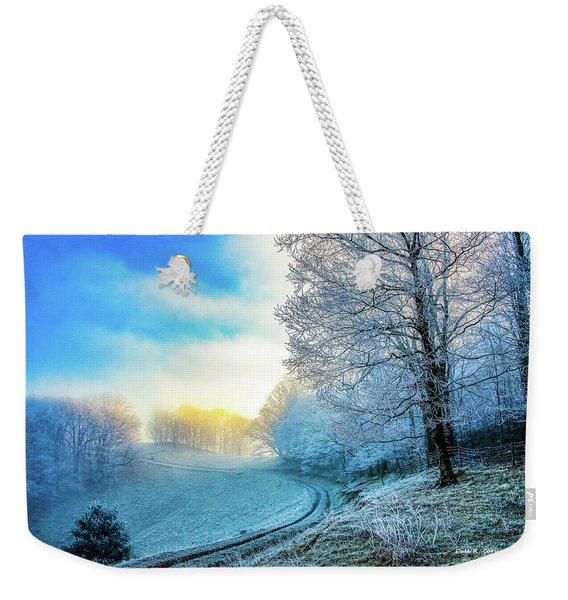 Rime Ice Sunrise Weekender Tote Bag