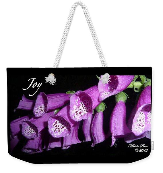 Ring My Bell With Joy Weekender Tote Bag