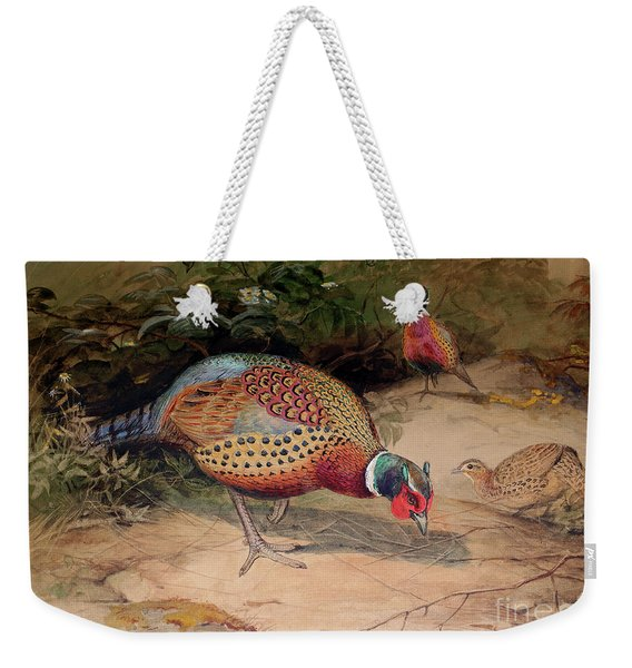 Ring Necked Pheasant Weekender Tote Bag